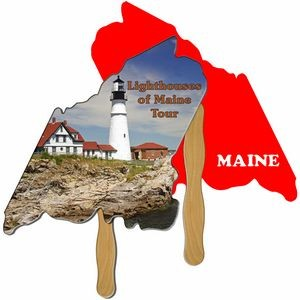Maine State Hand Fan Full Color (2 Sides)