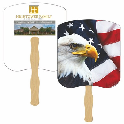 American Eagle Hand Fan Full Color (2 Sides)